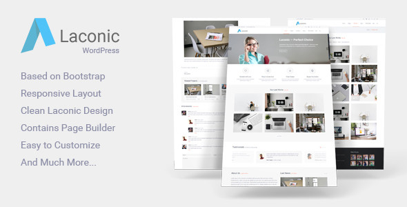 Lakonisch Moderne Business Corporate Wordpress Theme