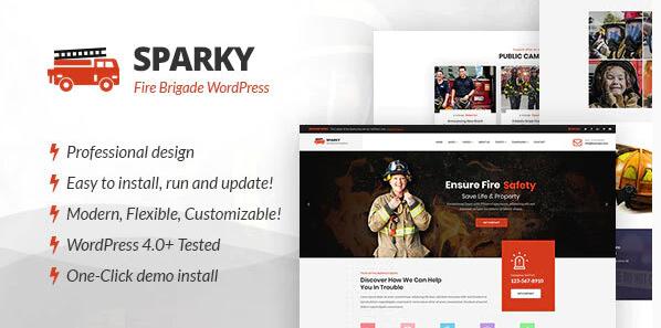 Sparky - Feuerwehr WordPress Template